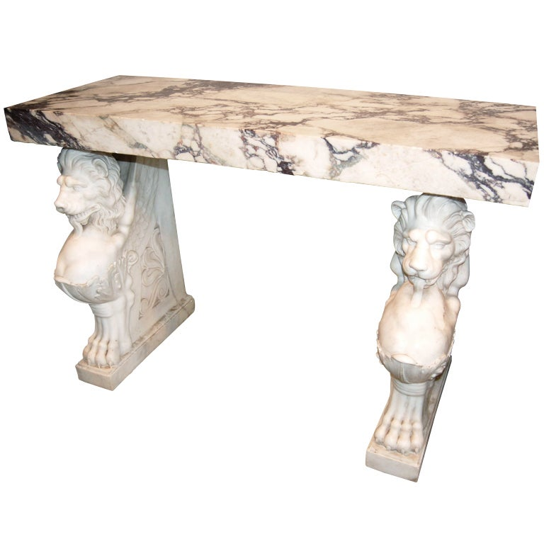 Exceptional 19thc. Marble Console For Sale