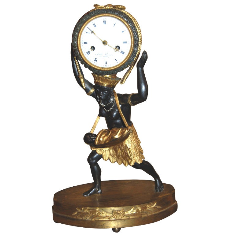 Exceptional 19th Century Bronze Sauvage Clock