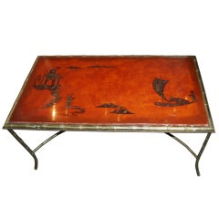 Mid-Century Chinoserie Coffee Table
