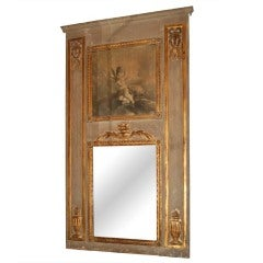 19thc. Painted Trumeau with Grisaille Painting