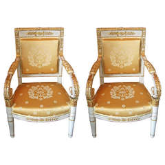 Pair of Period Consular Chairs