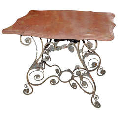 19th Century Iron Garden Table