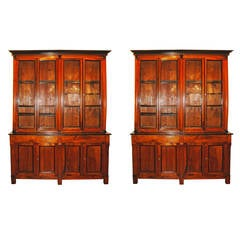 One 19thc Walnut Bibliotecque