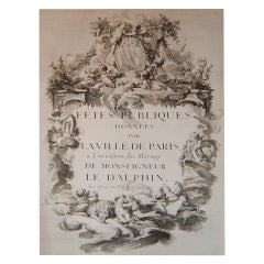 Rare Book-First Edition-Le Fete Marriage Le Dauphin