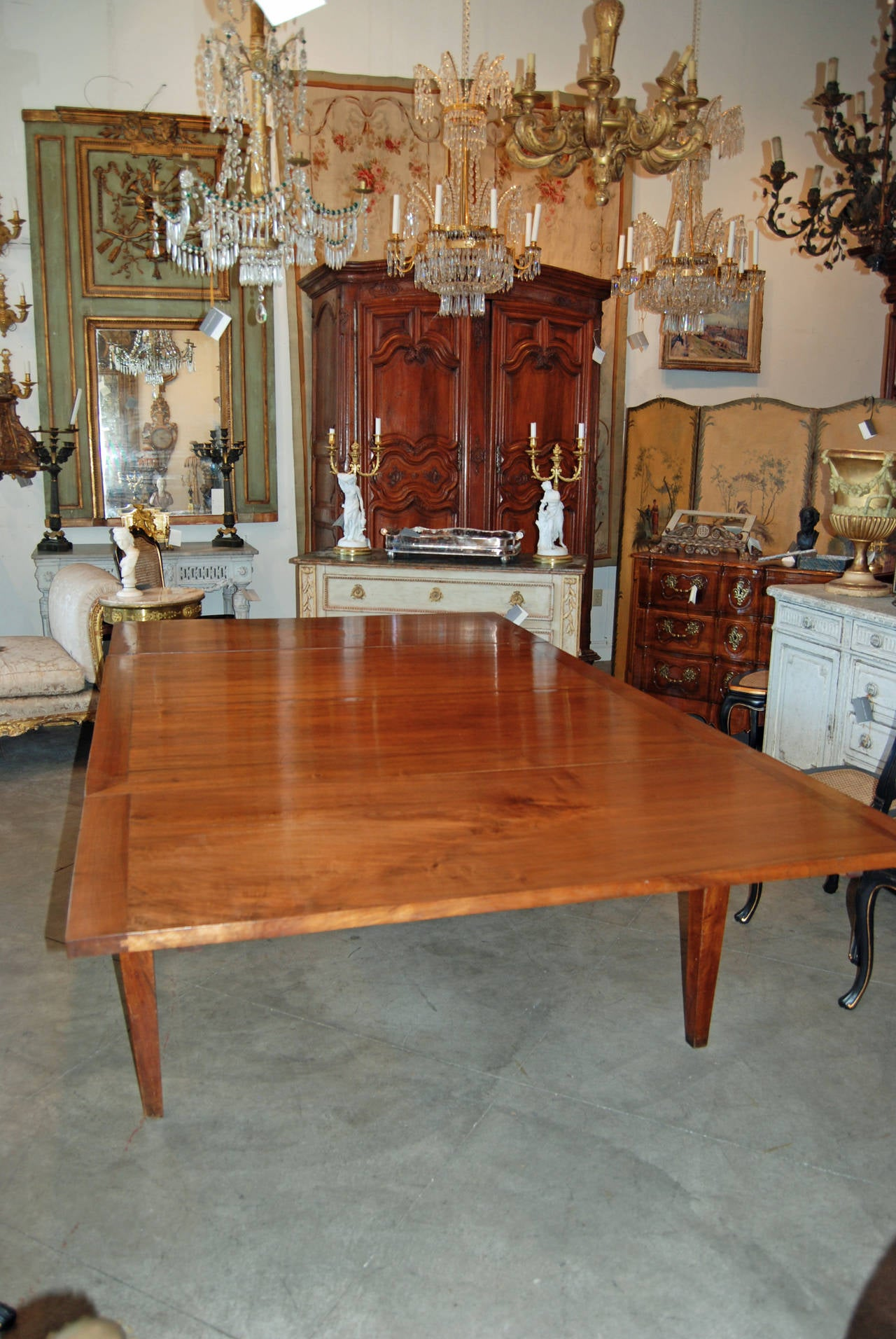 18th Century Italian Walnut Harvest Table 4