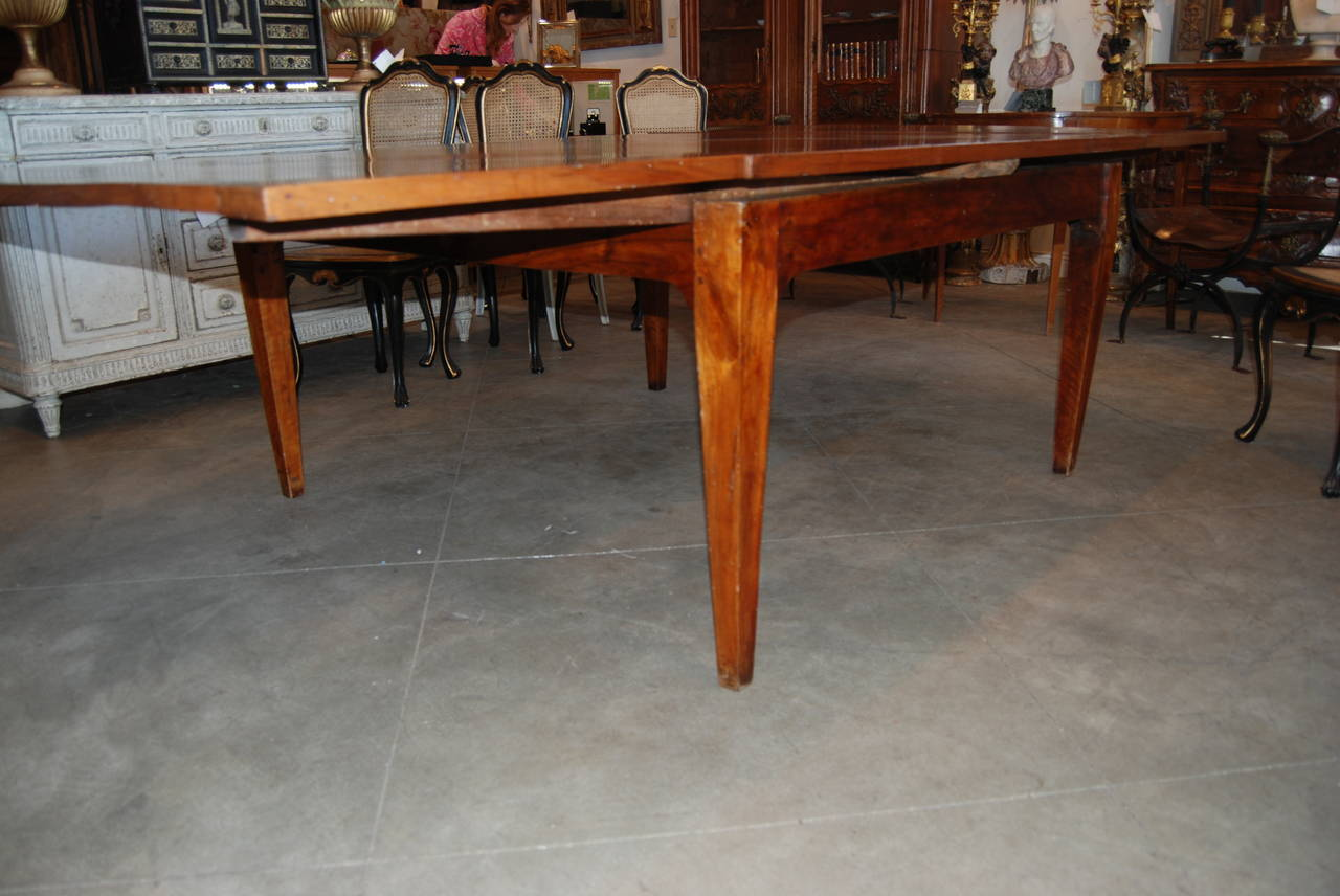 18th Century Italian Walnut Harvest Table 5