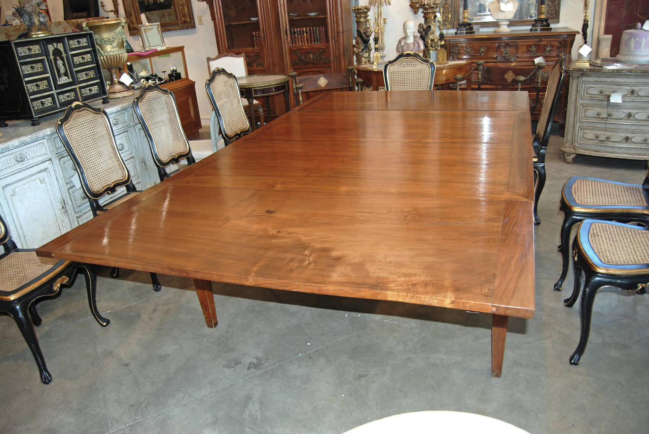 18th Century Italian Walnut Harvest Table 3