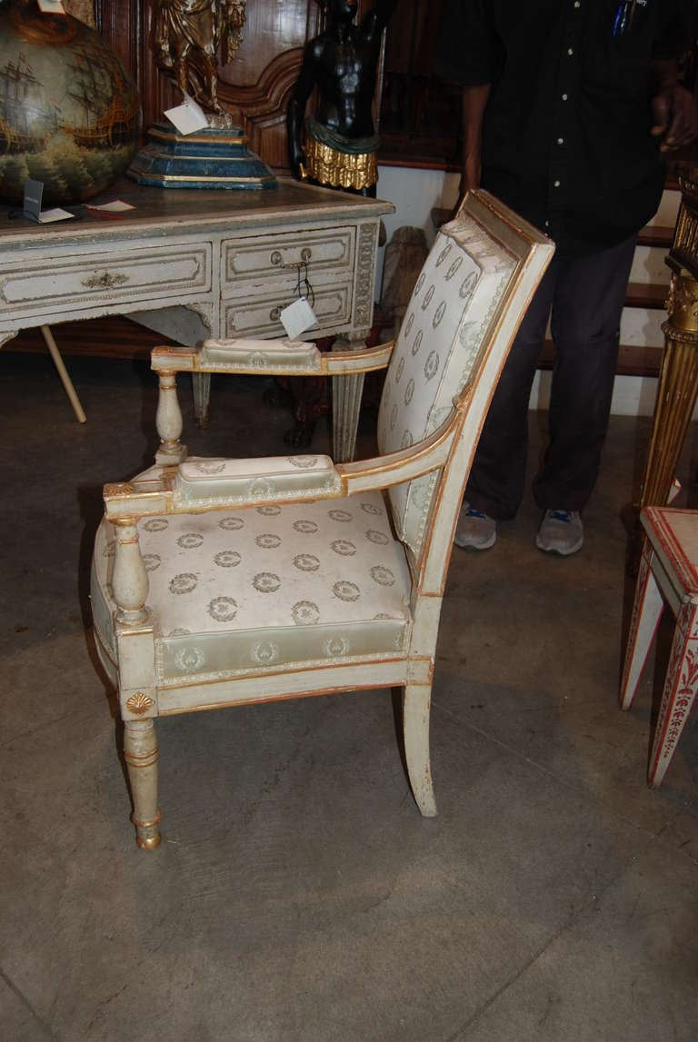 French Period Louis XVI Armchair For Sale