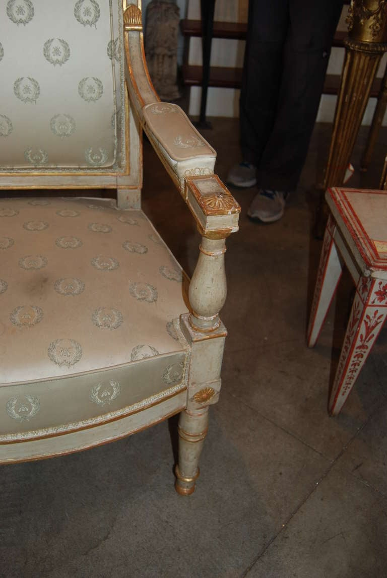 Wood Period Louis XVI Armchair For Sale