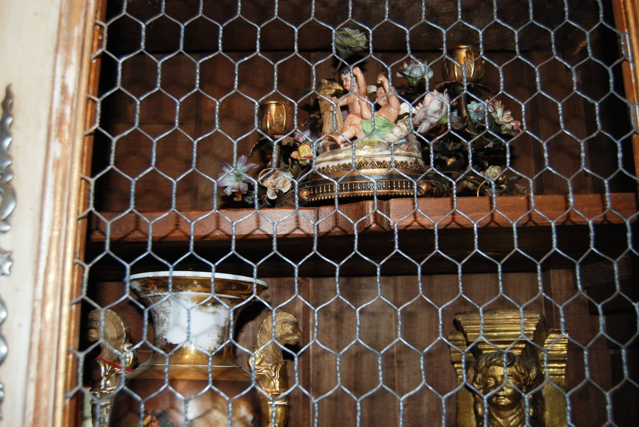 18th Century Painted and Gilded Buffet Deux Corps For Sale 2