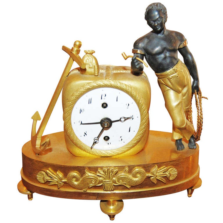 Period Empire Sauvage Miniature Clock