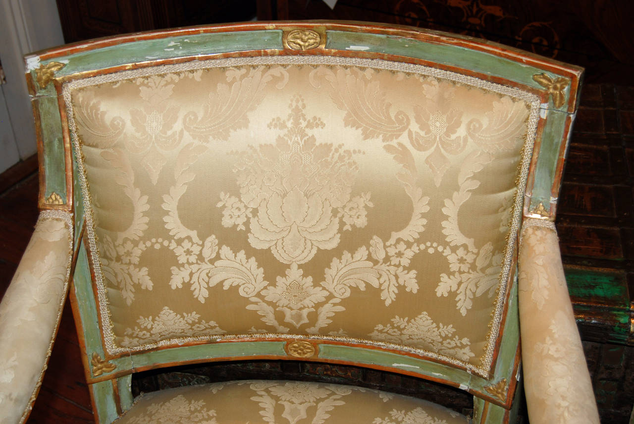 French Set of Six Directoire Dining Chairs For Sale