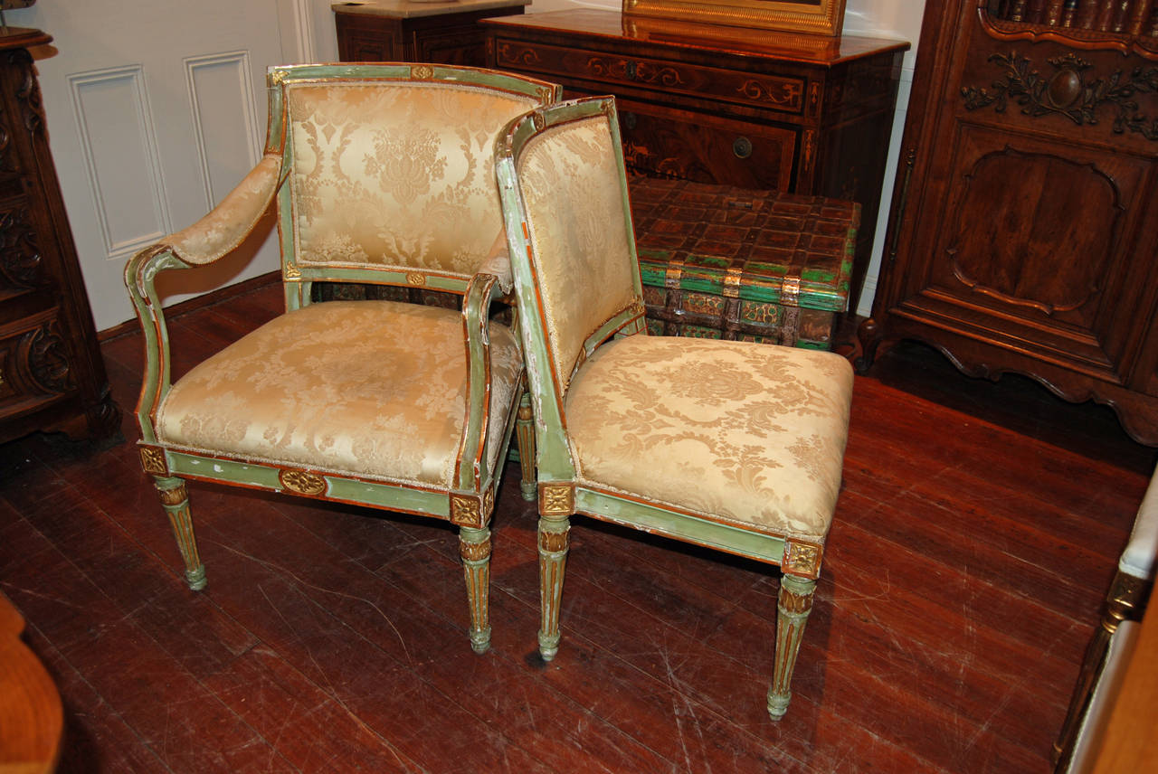 Set of Six Directoire Dining Chairs In Good Condition For Sale In New Orleans, LA