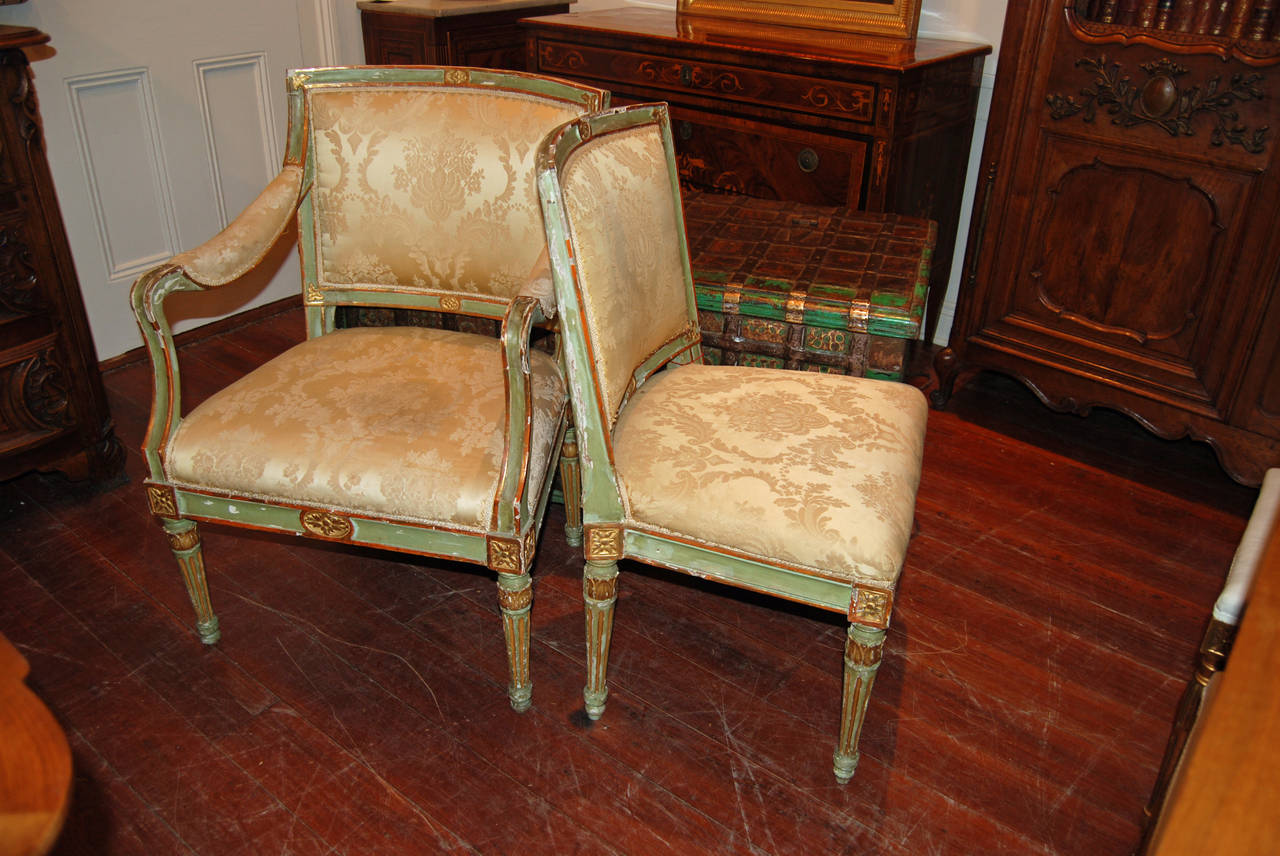 18th Century Set of Six Directoire Dining Chairs For Sale