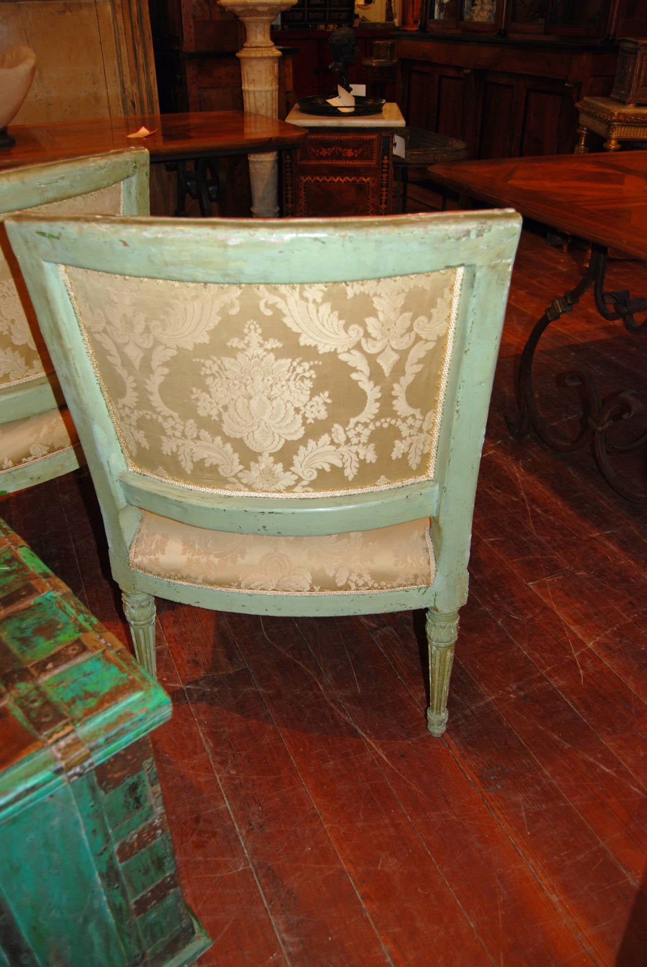 Set of Six Directoire Dining Chairs For Sale 1