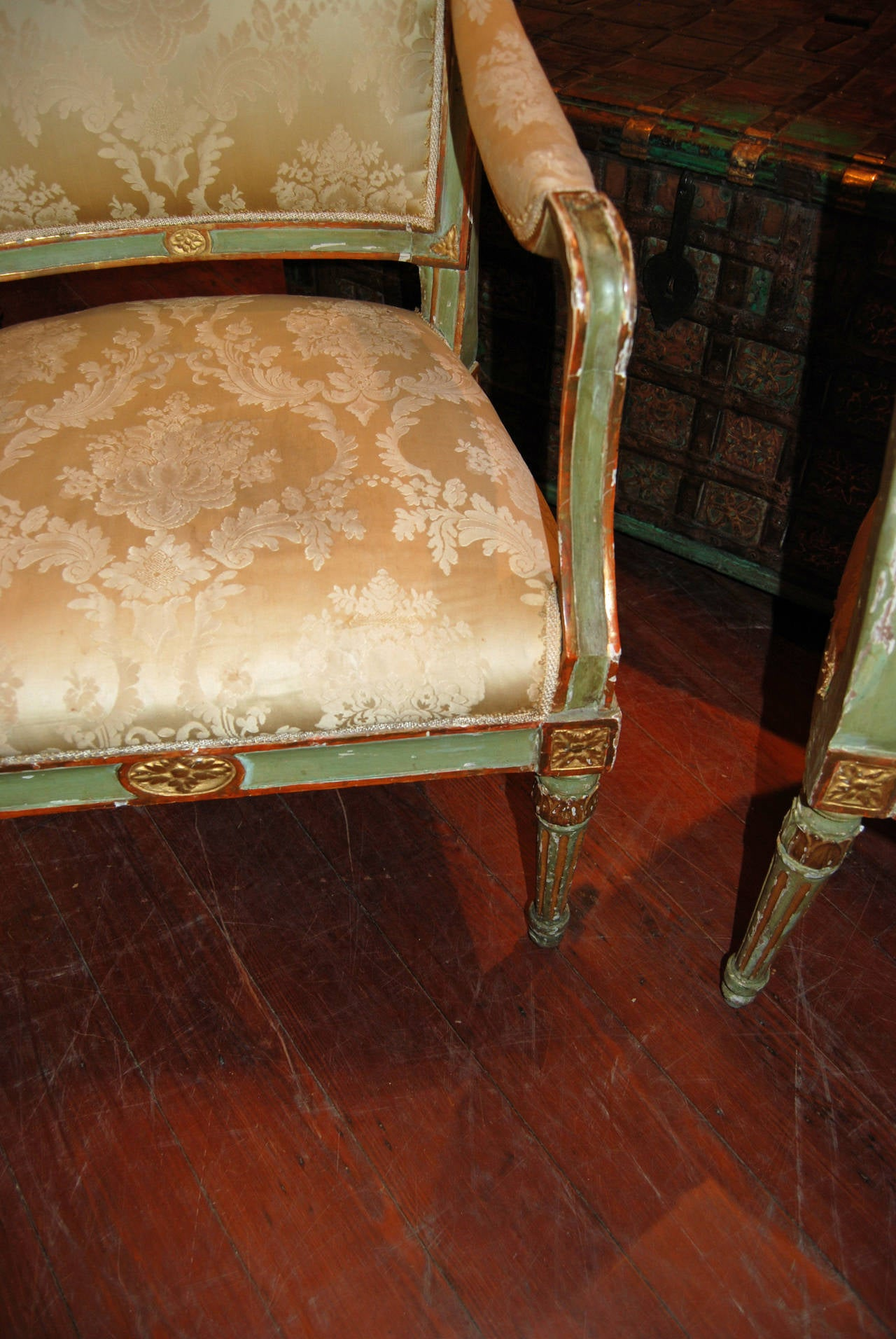 Set of Six Directoire Dining Chairs For Sale 2