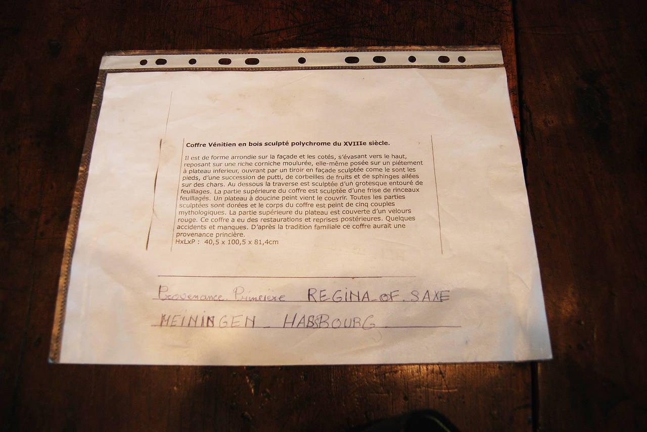 Royal Venetian 18th Century Trousseau Cassone For Sale 2