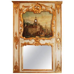 Exceptional Clock Tower Trumeau Mirror