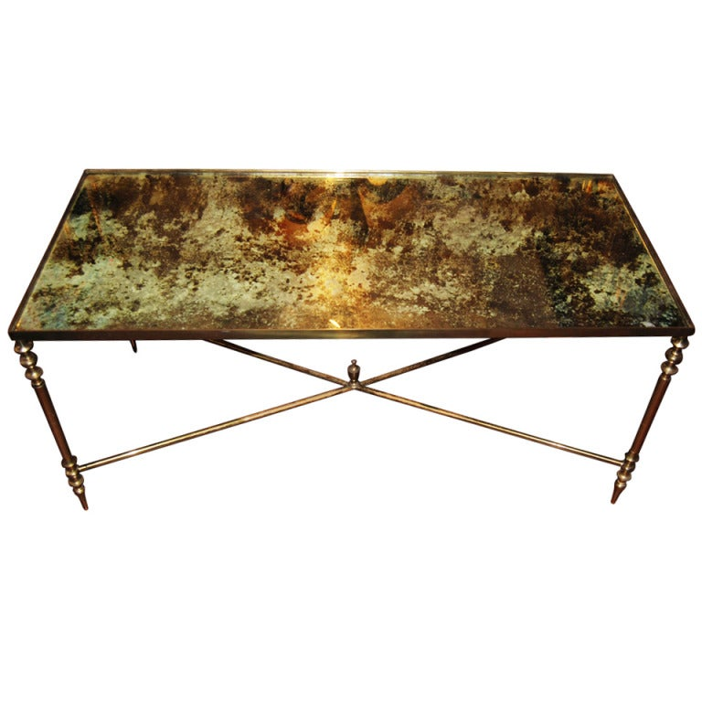 Eglomise And Bronze Coffee Table At 1stdibs