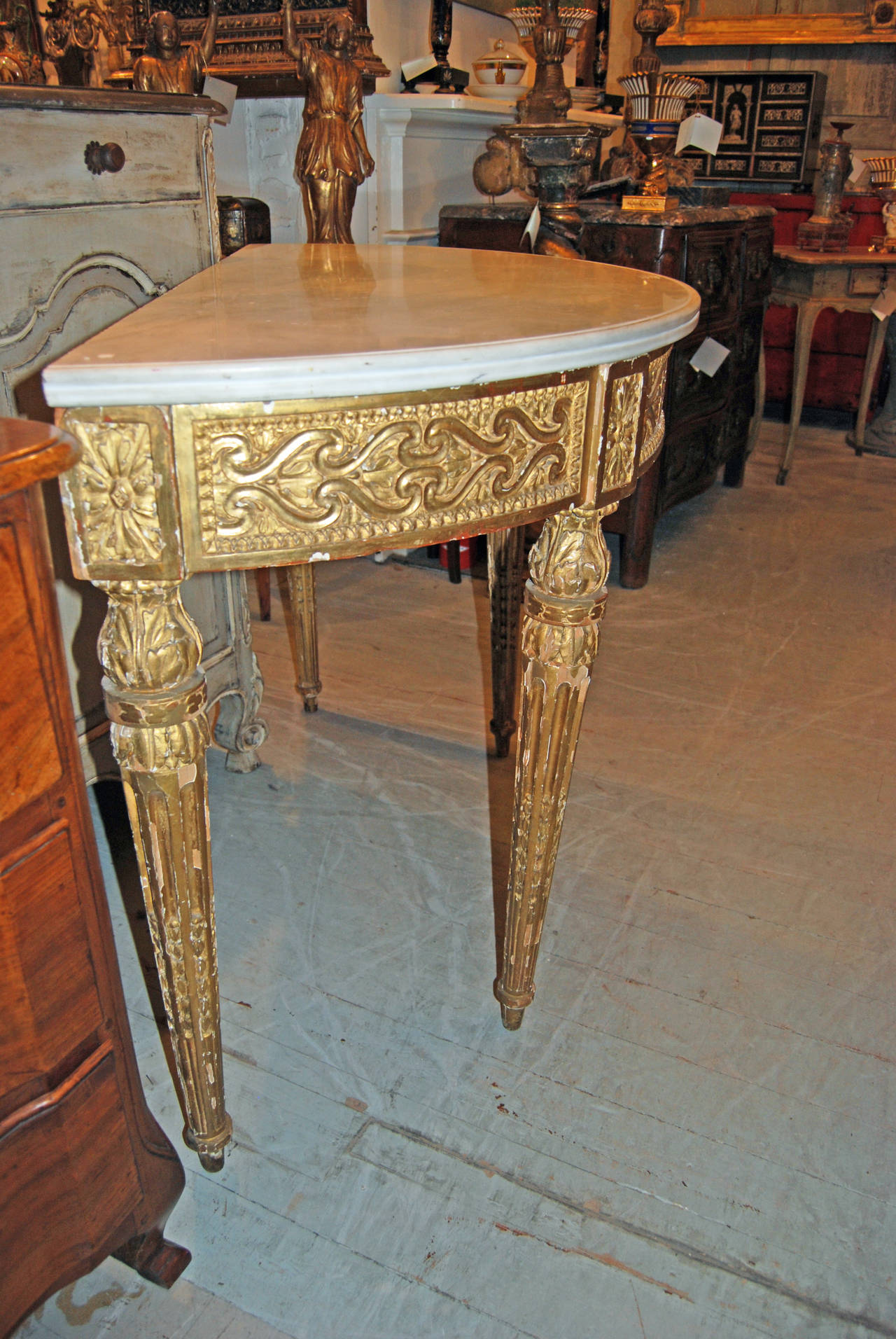 18th Century Louis XVI Console Table 4