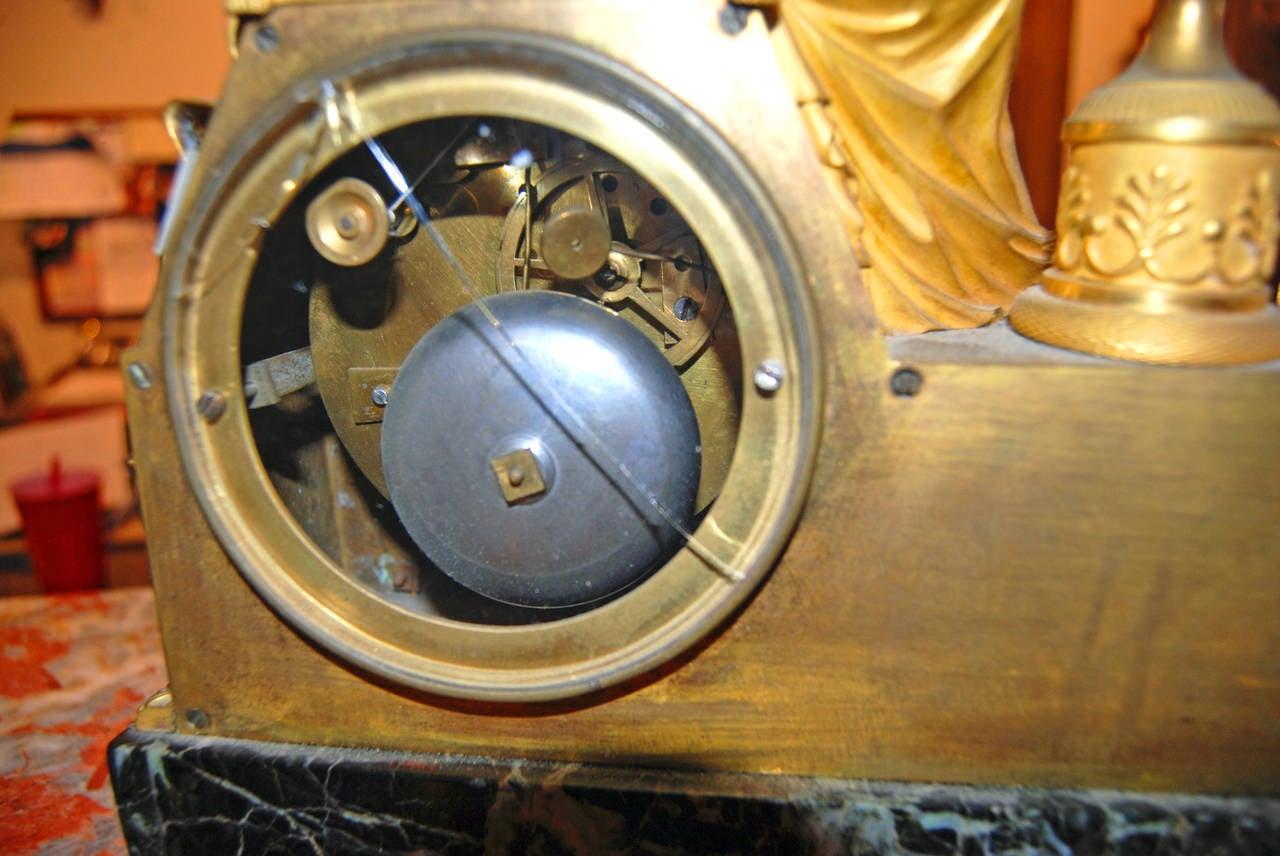 19th Century Bronze Doré Mantel Clock For Sale 2