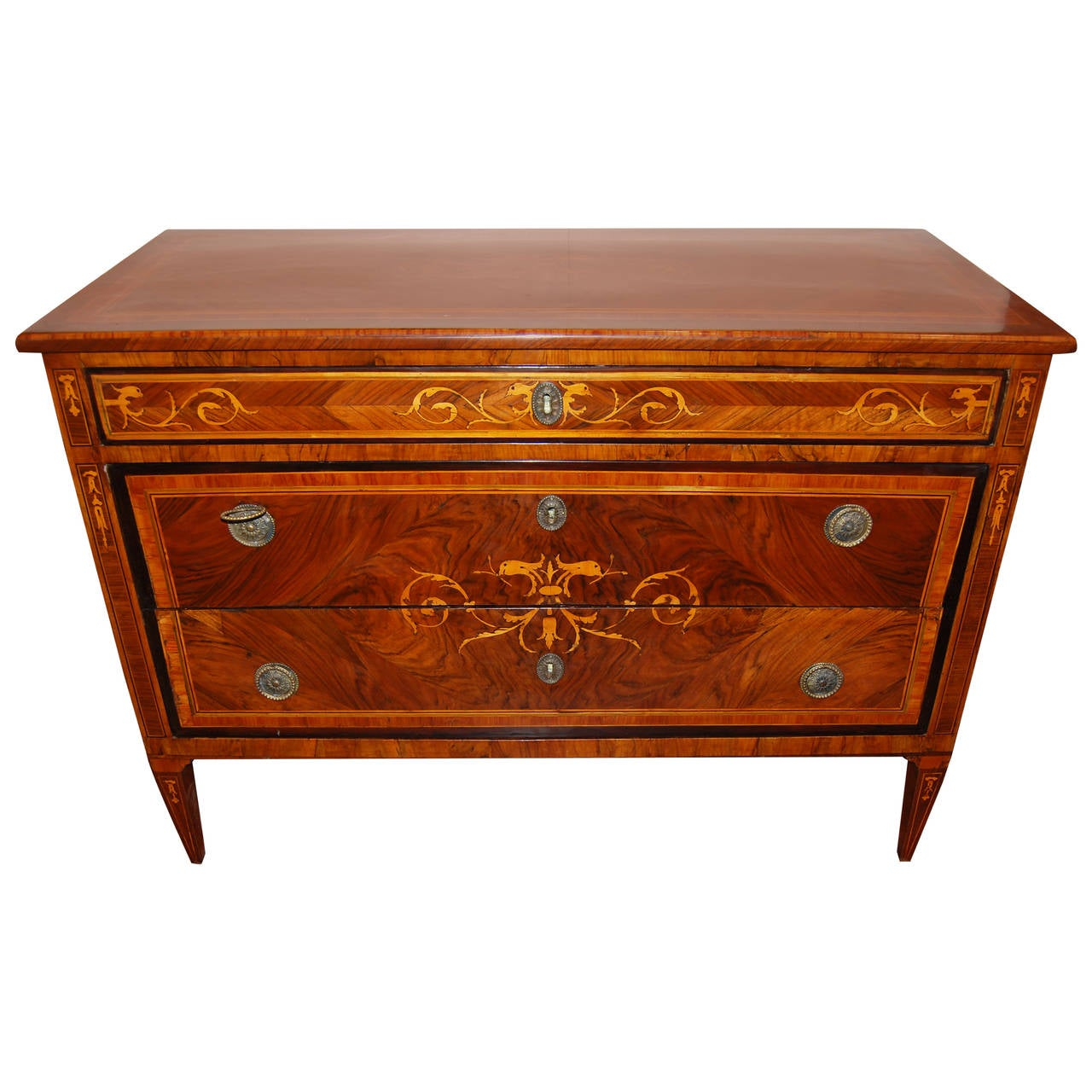 18th Century Italian Marquetry Commode