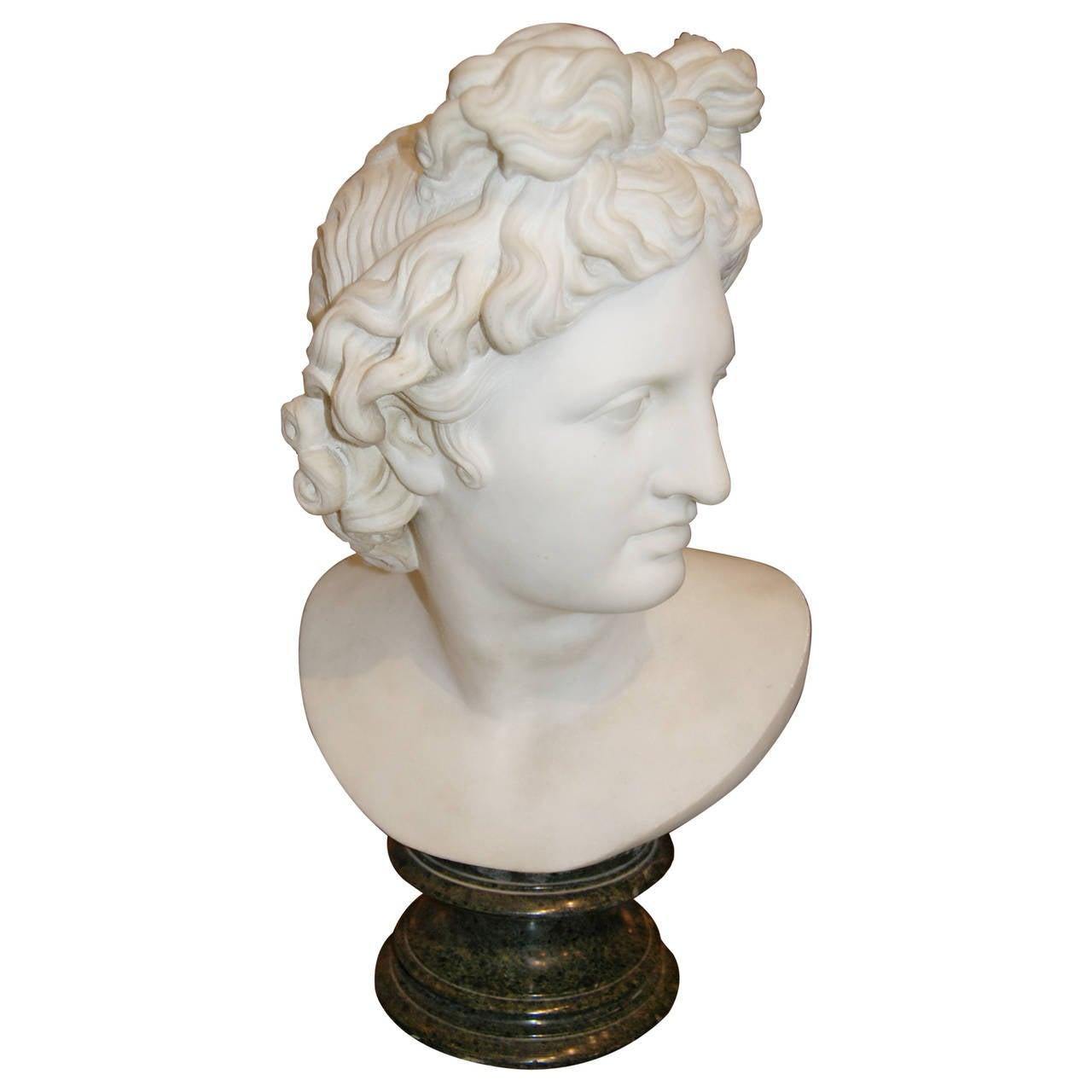 18th Century Marble Apollo For Sale