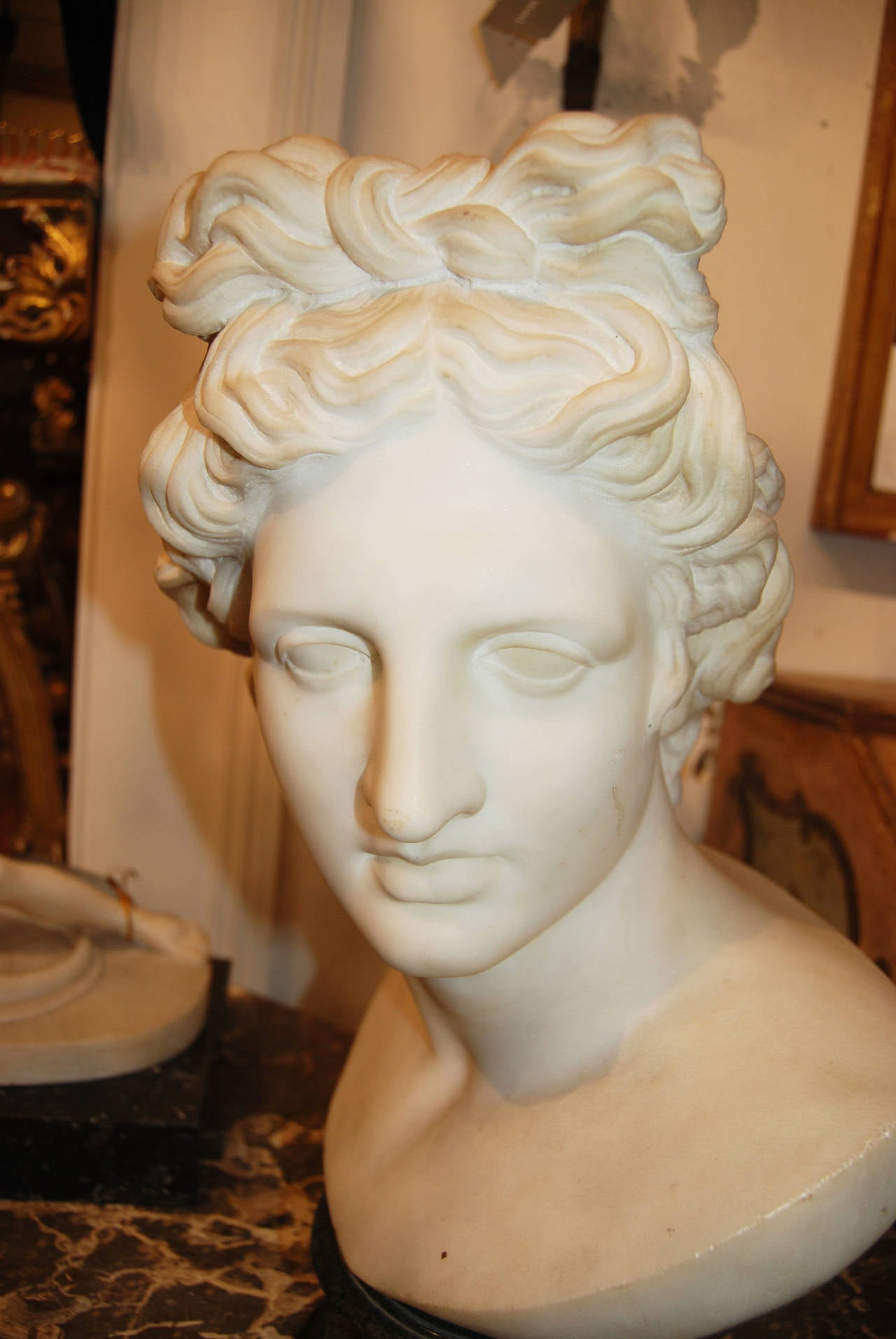 French 18th Century Marble Apollo For Sale