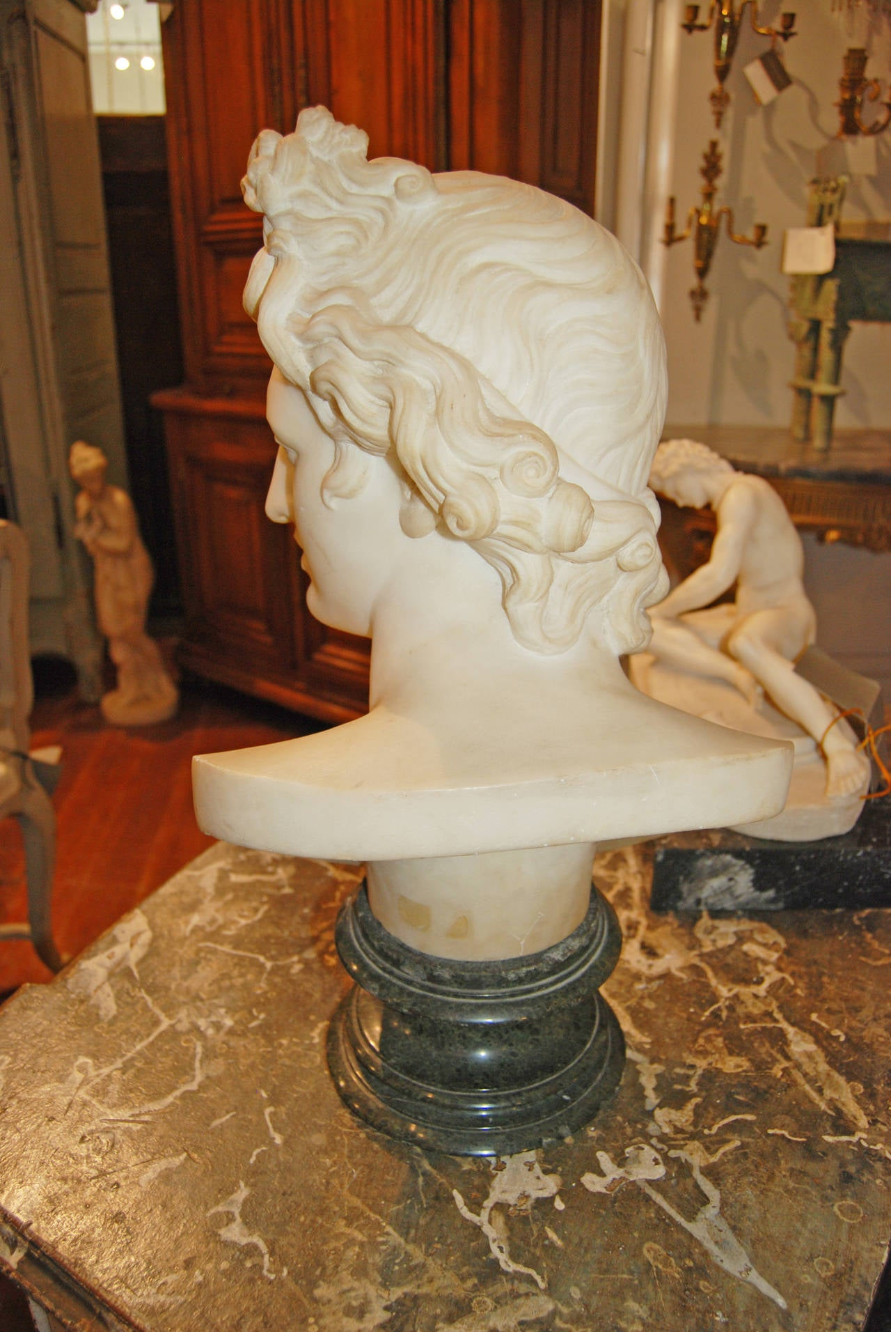 18th Century Marble Apollo In Good Condition For Sale In New Orleans, LA