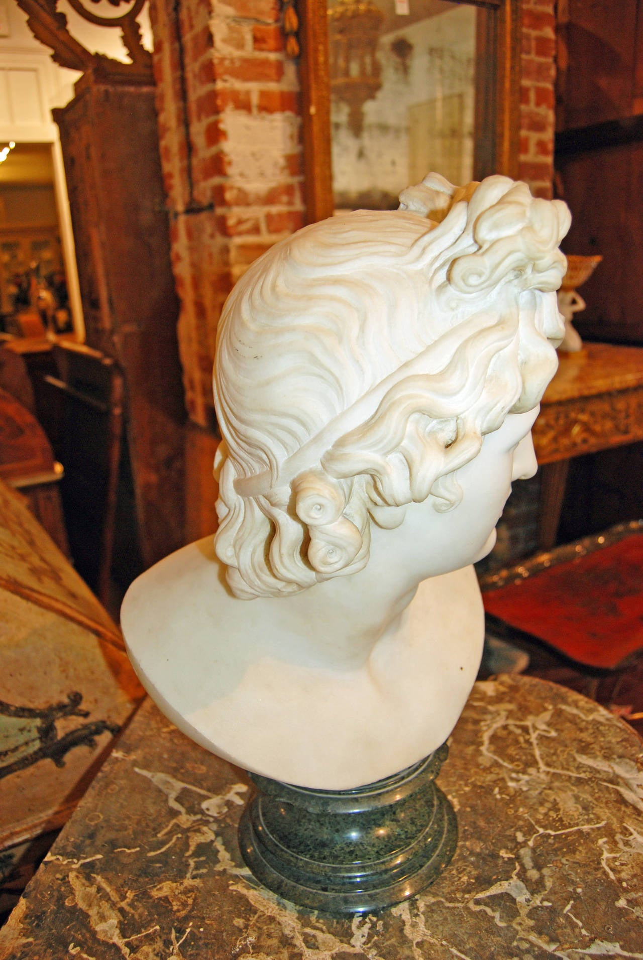 18th Century and Earlier 18th Century Marble Apollo For Sale