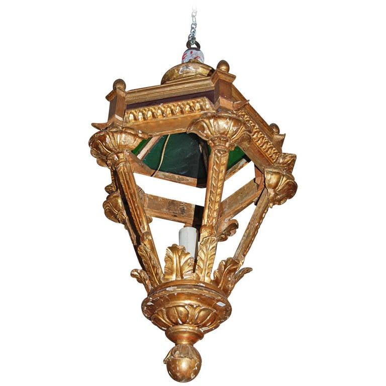 19th Century Giltwood Lantern