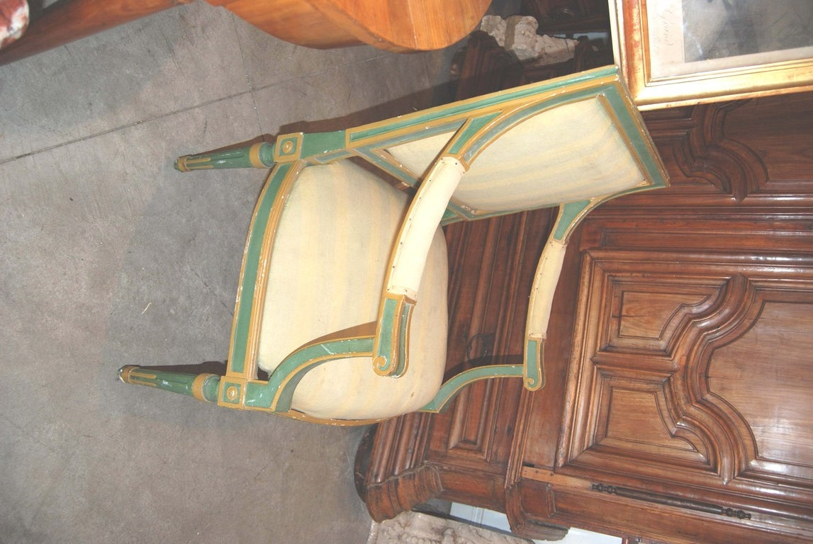 Set of Eight Painted Italian Directoire Dining Chairs 6