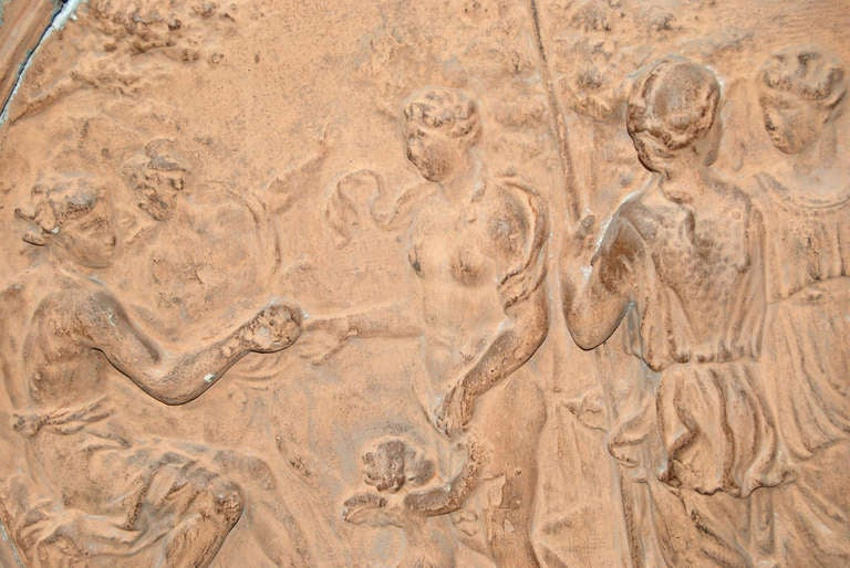 Neoclassical 19th Century Terracotta Frieze For Sale