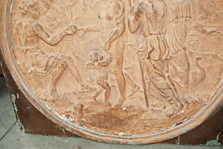 Italian 19th Century Terracotta Frieze For Sale