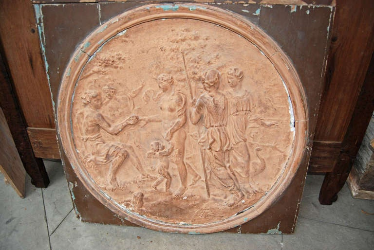 19th Century Terracotta Frieze In Fair Condition For Sale In New Orleans, LA