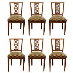 Set of Italian Faux Tortoiseshell Dining Chairs