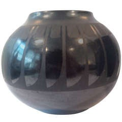 San Ildefonso Blackware Vase by Maria Martinez