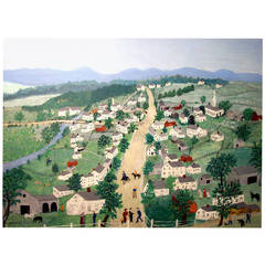 "Important Painting by Grandma Moses ""Posenkill,"" 1952"