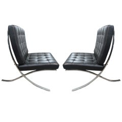 Pair of Vintage Barcelona Chairs by Knoll