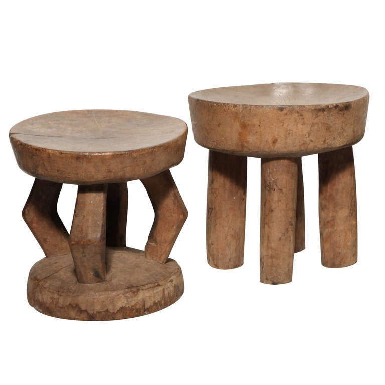 Selection Of Small African Stools Priced Individually At