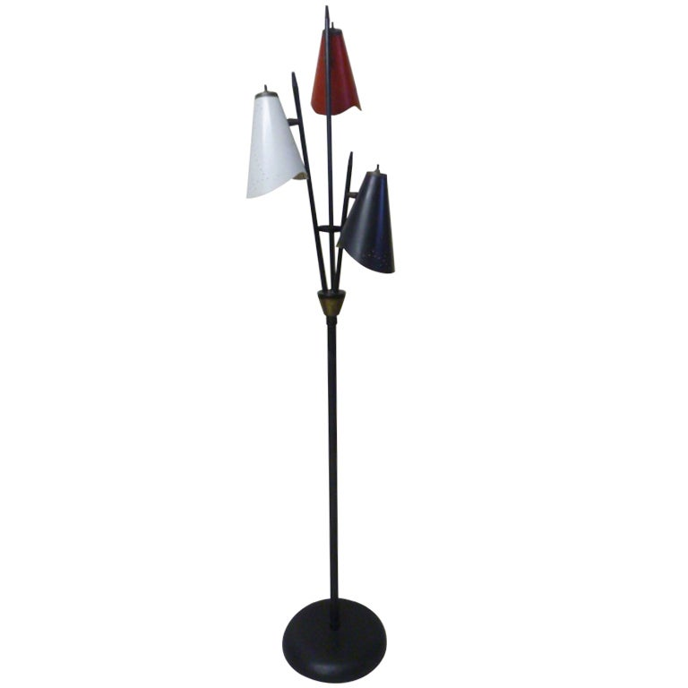 Triennale Floor Lamp By Gerald Thurston For Lightolier For