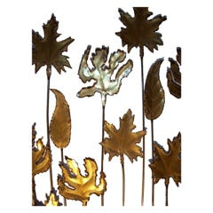 Set of Torch Cut Leaves Attributed to Curtis Jere