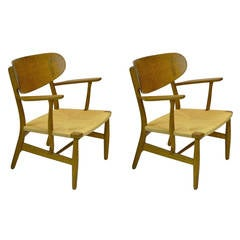 Pair of Hans Wegner Shell Armchairs