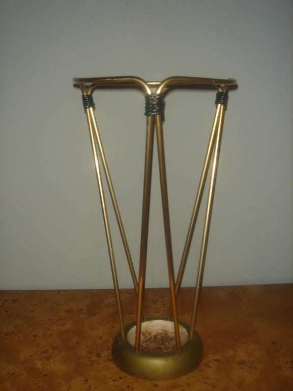 French Brass Umbrella Stand At 1stdibs