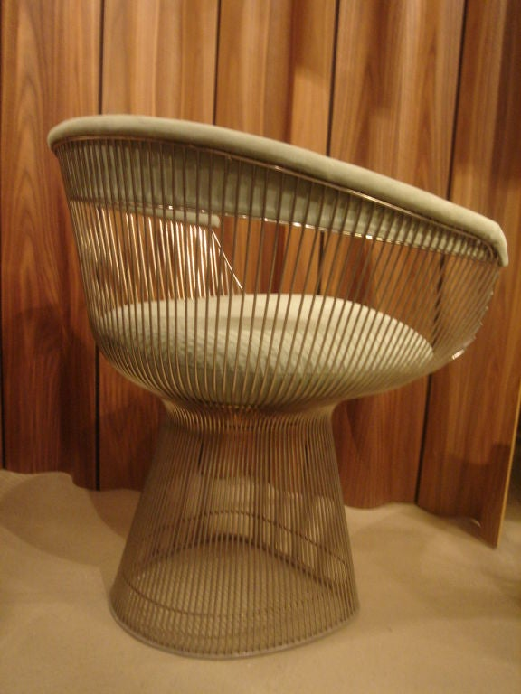 20th Century Set of Vintage Nickel Chairs by Warren Platner for Knoll in COM
