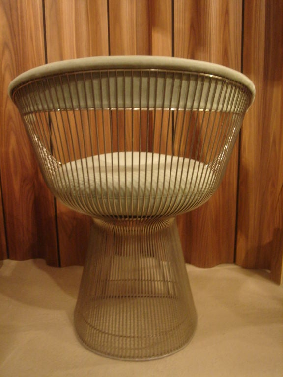 Set of Vintage Nickel Chairs by Warren Platner for Knoll in COM 1