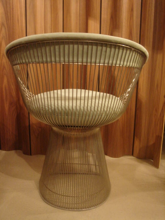 Set of Vintage Nickel Chairs by Warren Platner for Knoll in COM 2