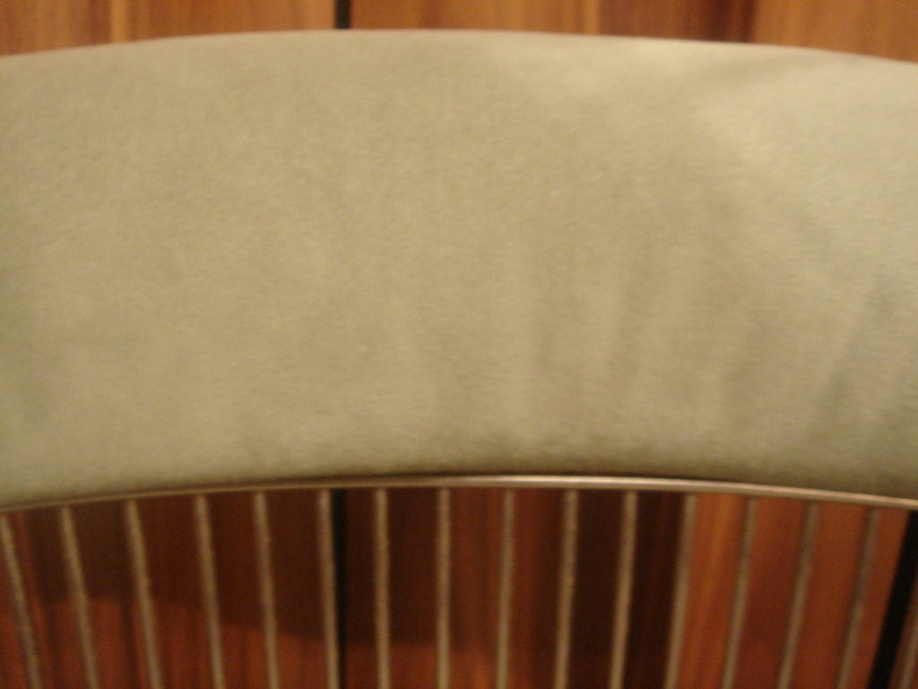 Set of Vintage Nickel Chairs by Warren Platner for Knoll in COM 4
