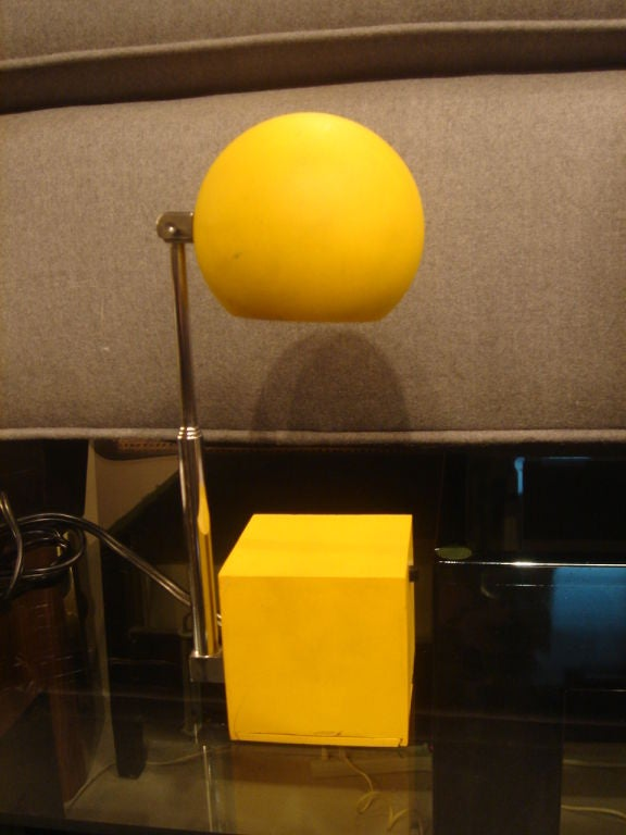 Yellow Lytegem Task Lamp by Michael Lax for Lightolier at ...