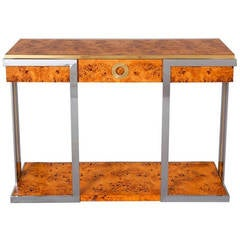 Burl Console Table by Pierre Cardin